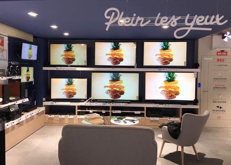 Boulanger nouveau concept TV image et son-comptoir